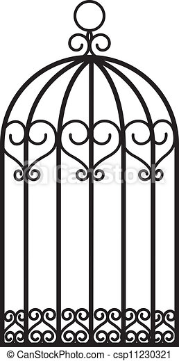 antique empty bird cage vector illustration search clipart rh canstockphoto com wedding birdcage clipart vintage birdcage clipart free
