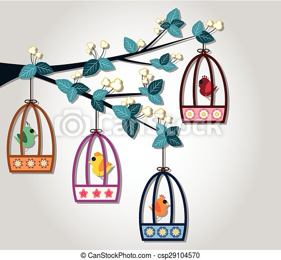 Bird Cage - csp29104570