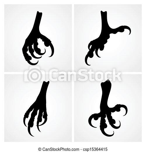 Bird claws - csp15364415