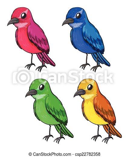 Bird clipart logo colorful Royalty Free Vector Image