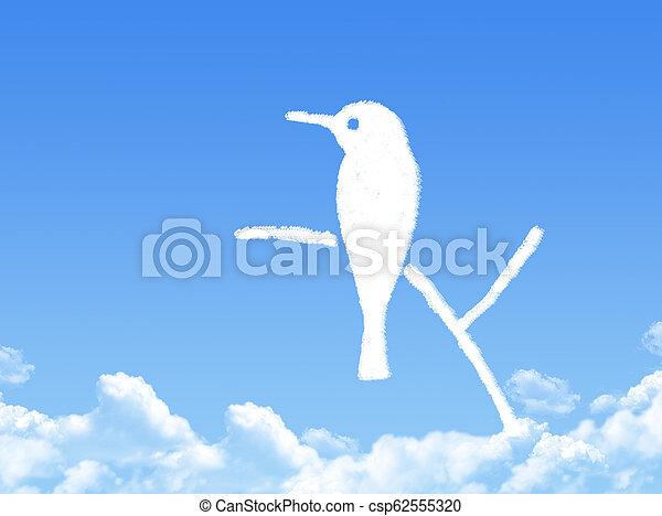 bird cloud shape - csp62555320
