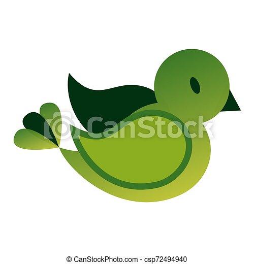 Bird flat color illustration on white - csp72494940