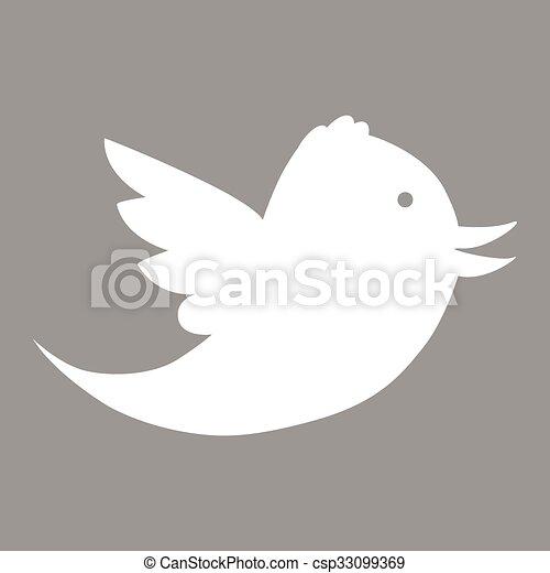 Bird flat icon - csp33099369