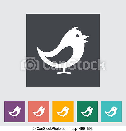 Bird flat icon. - csp14991593