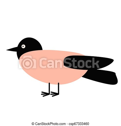 bird flat illustration - csp67333460