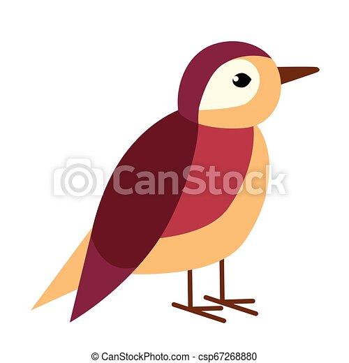 bird flat illustration - csp67268880