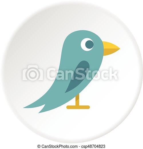 Bird icon circle - csp48704823