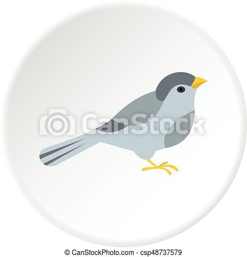 Bird icon circle - csp48737579