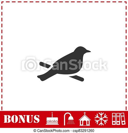 Bird icon flat - csp83291260