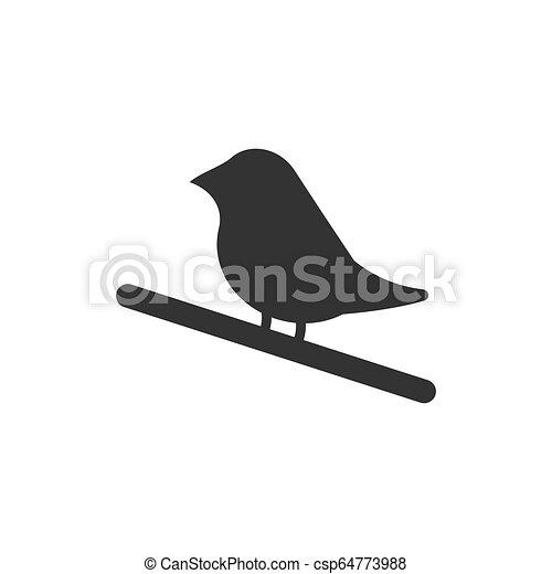 Bird icon flat - csp64773988