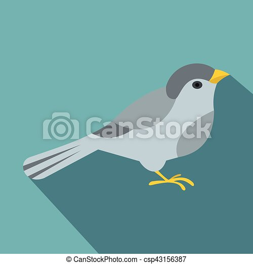 Bird icon, flat style - csp43156387