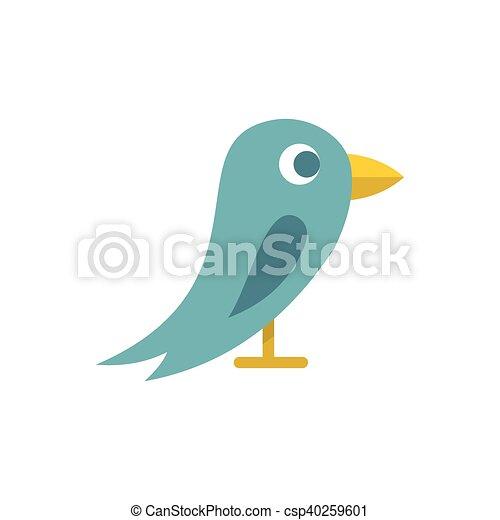 Bird icon, flat style - csp40259601