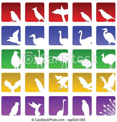bird icons - csp5341393