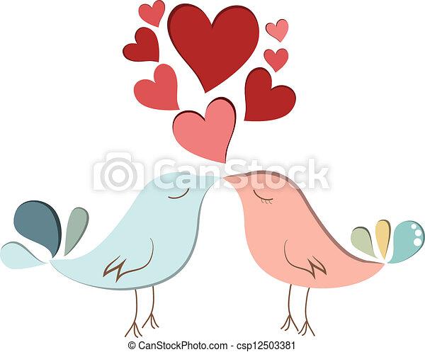 Bird lovers - csp12503381