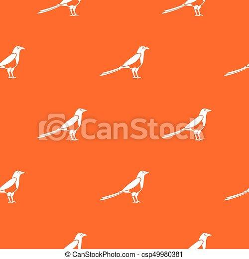 Bird magpie pattern seamless - csp49980381