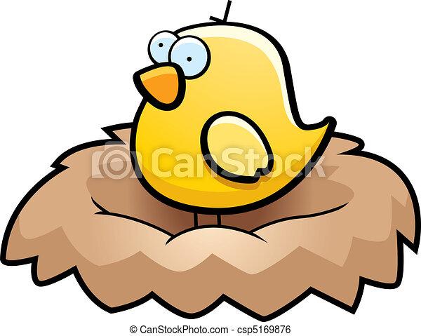 bird nest a cartoon little yellow bird in a nest clip art vector rh canstockphoto com bird nest clipart free empty bird nest clipart