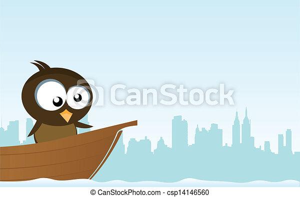 bird on a boat - csp14146560