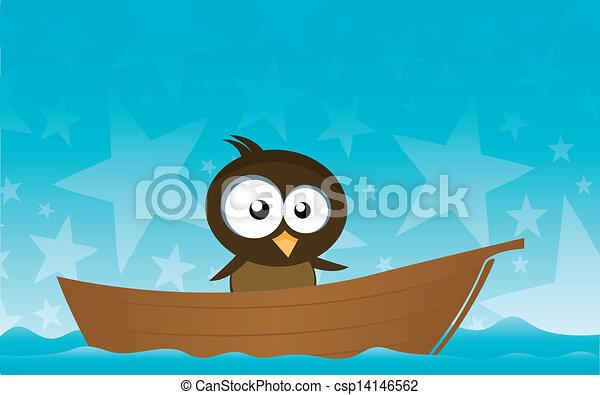bird on a boat - csp14146562