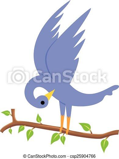 Bird on a branch - csp25904766