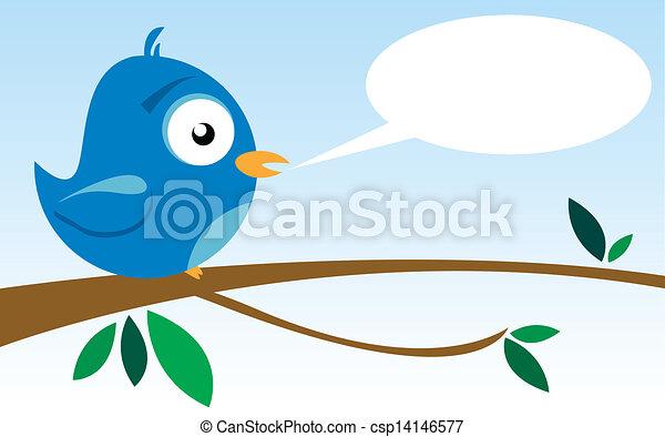bird on a branch - csp14146577