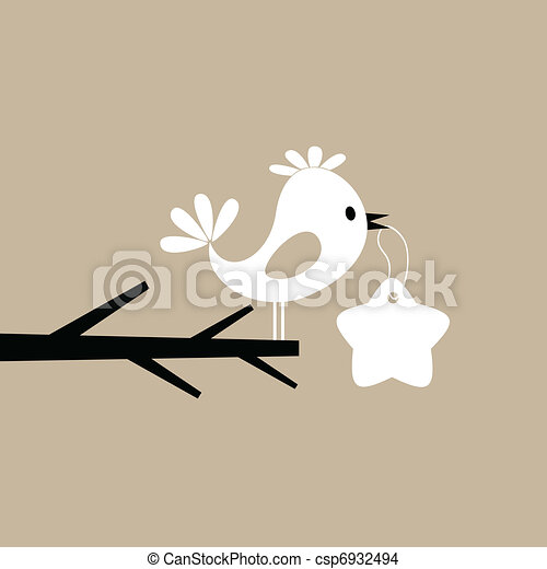 Bird on a tree - csp6932494