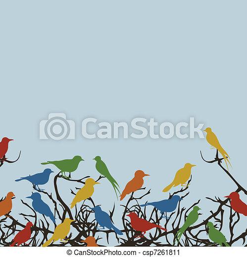 Bird on a tree7 - csp7261811