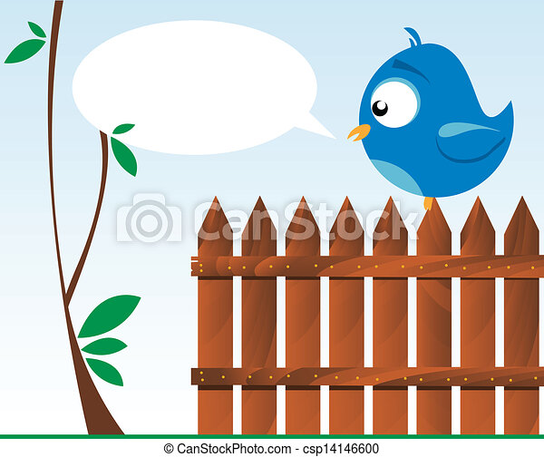 bird on a wooden fence - csp14146600