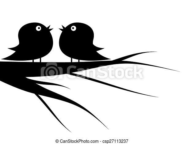 bird on tree - csp27113237