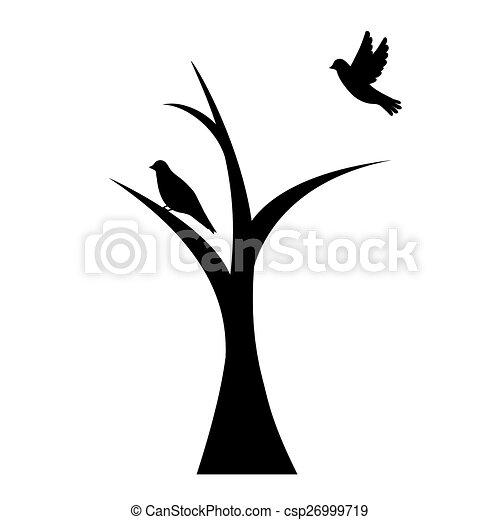 bird on tree - csp26999719