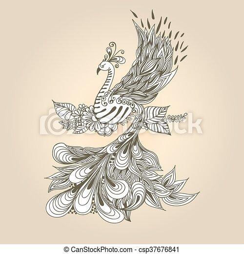 Bird Phoenix - csp37676841