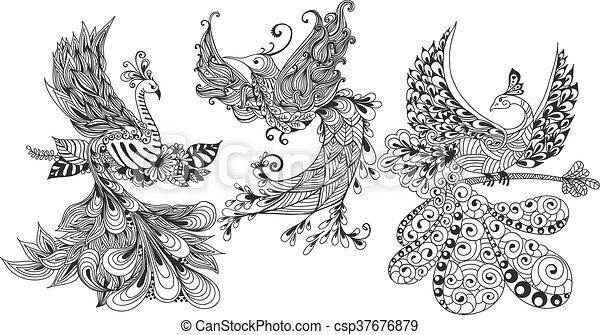 Bird Phoenix three - csp37676879