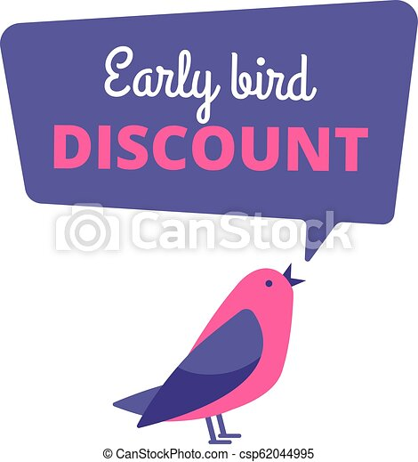 bird., pojem, banner., nabídnout, prodej, časný, rabat, vektor, ptáci, speciální - csp62044995