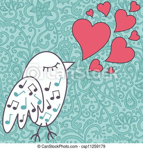 bird-singing-a-love-song - csp11259179
