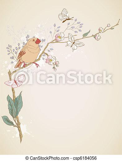 bird sitting on a branch - csp6184056