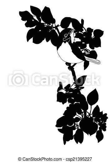bird sitting on a branch - csp21395227