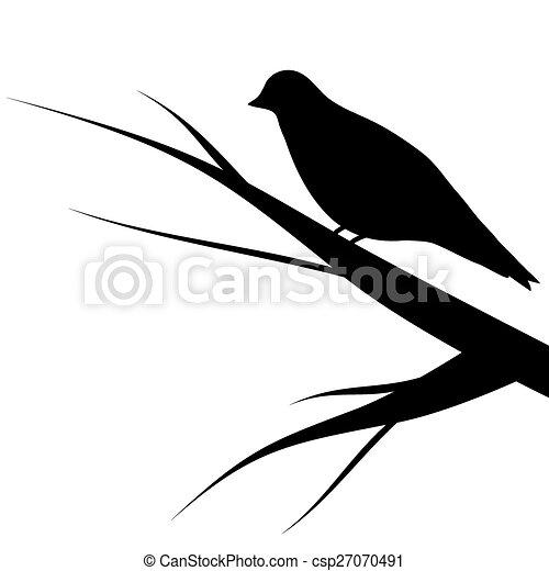 bird sitting on a tree - csp27070491
