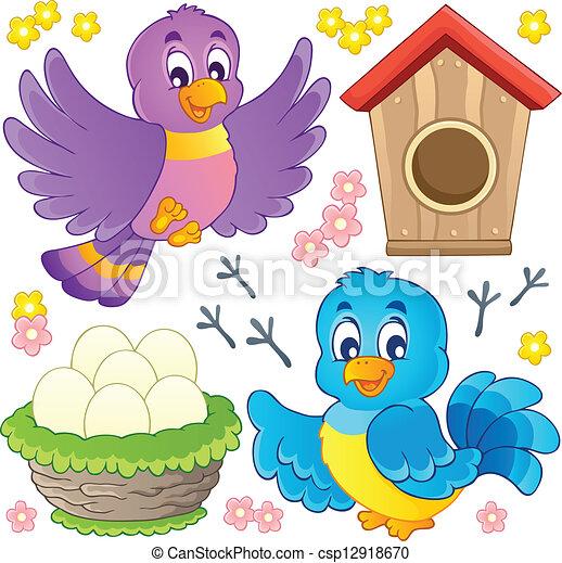 Bird theme image 9 - csp12918670