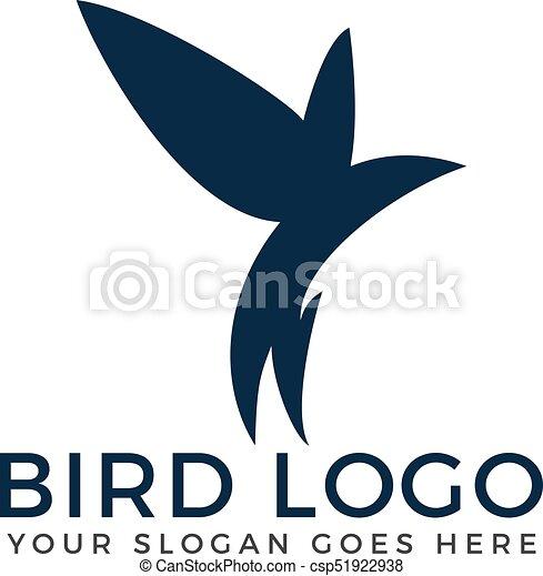 bird vector logo concept flying bird abstract logo design vector