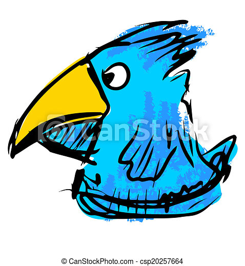 bird with big beak funny animal character isolated on clip art rh canstockphoto com