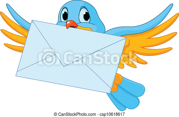 Bird with letter - csp10618617