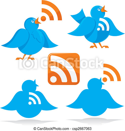 Bird with RSS vector - csp2667063