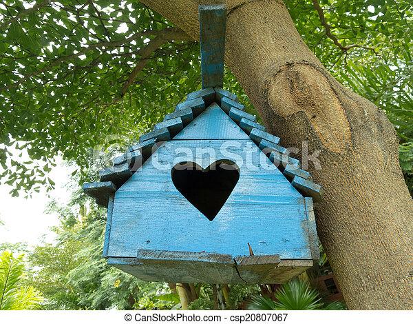 Wooden Birdhouse - csp20807067
