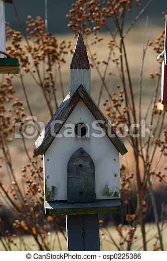 La iglesia de Birdhouse - csp0225386