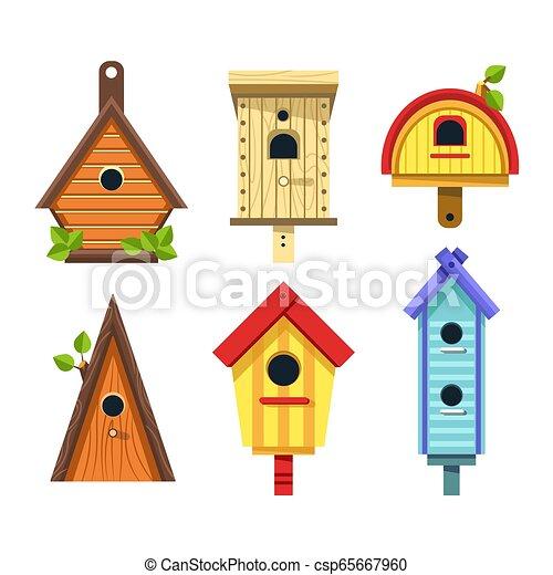 Strange Birdhouse Of Wood Isolated Objects Tree Nesting Boxes Download Free Architecture Designs Scobabritishbridgeorg