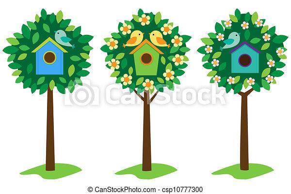Pájaros en los árboles - csp10777300