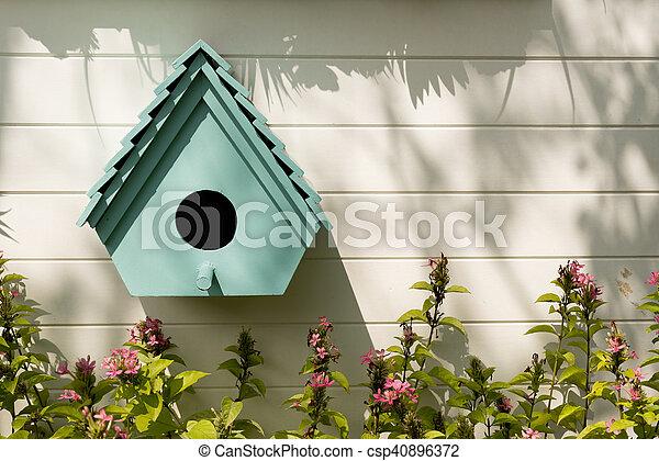 Birdhouses background. - csp40896372