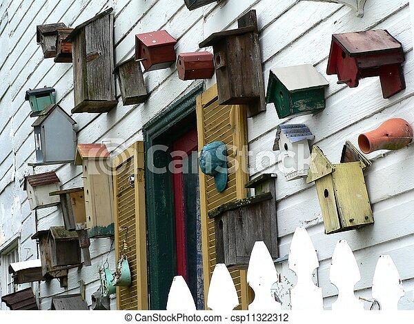 birdhouses (landscape) - csp11322312