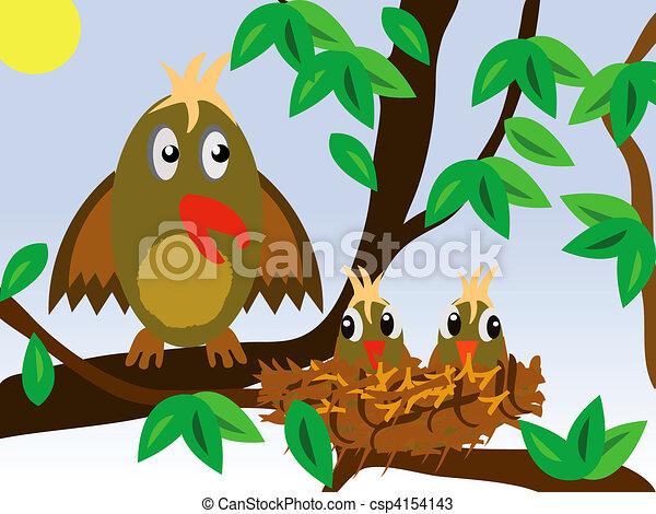 Birdie around jack with nestling - csp4154143