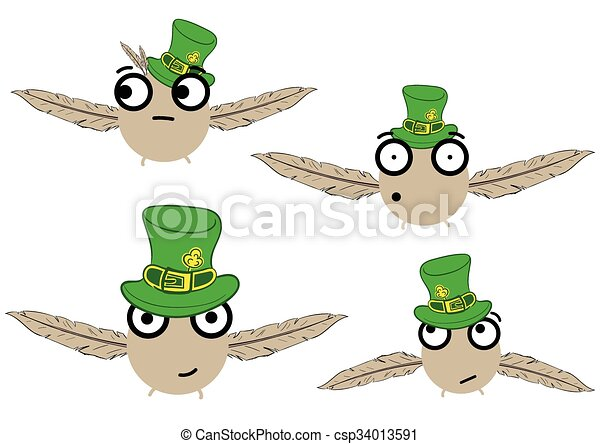 Birdies for a St. Patrick's Day - csp34013591