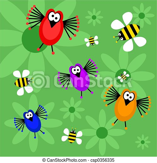 birds and bees - csp0356335
